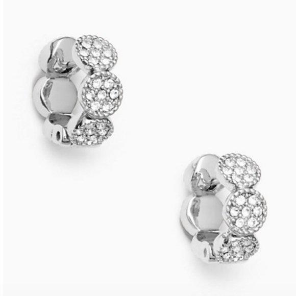 kate spade Jewelry - kate spade gatsby dot huggies earrings nwt